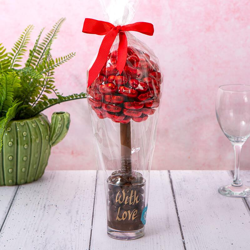 Personalised Red Heart Sweet Tree