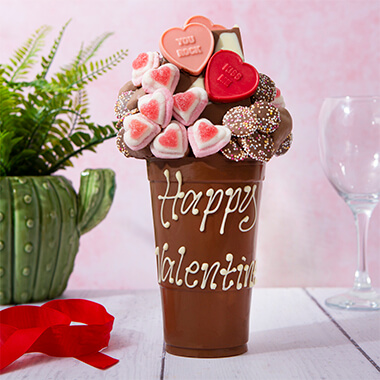 Personalised Love Heart Smash Cup