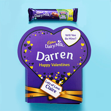 Personalised Valentines Favorites Box - Dairy Milk
