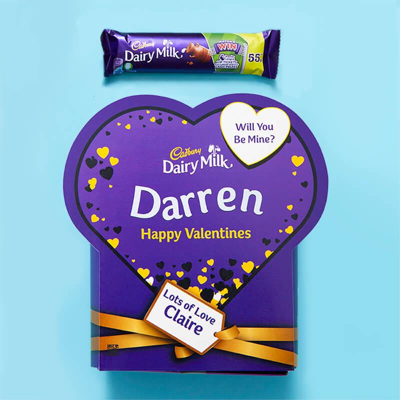 Personalised Valentines Favorites Box - Dairy Milk