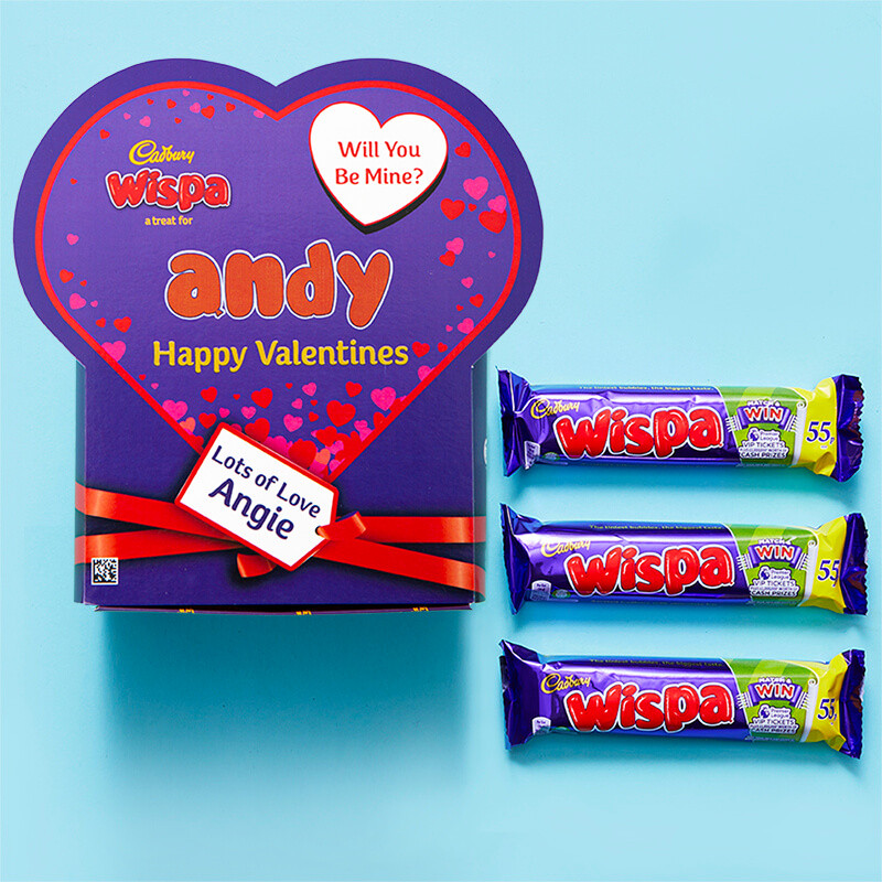 Personalised Valentines Favorites Box - Wispa