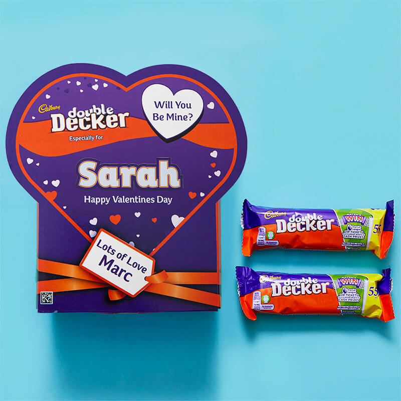Personalised Valentines Favorites Box - Double Decker