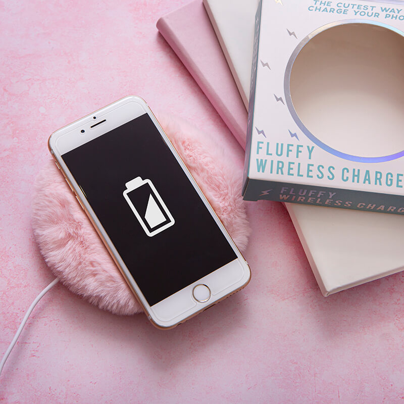 Pink Fluffy Wireless Charger