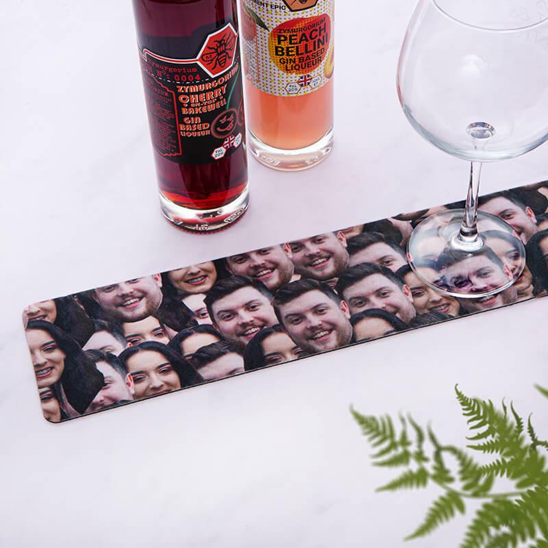 Personalised Multi Face Bar Mat
