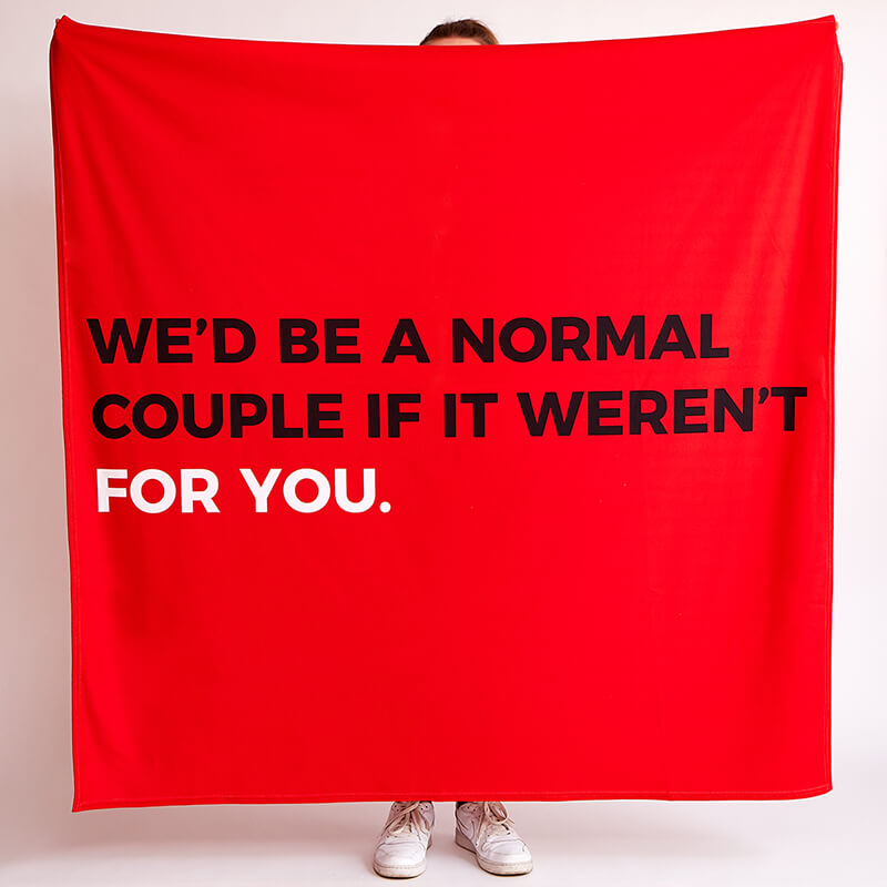 Personalised If It Weren't For You Fleece Throw