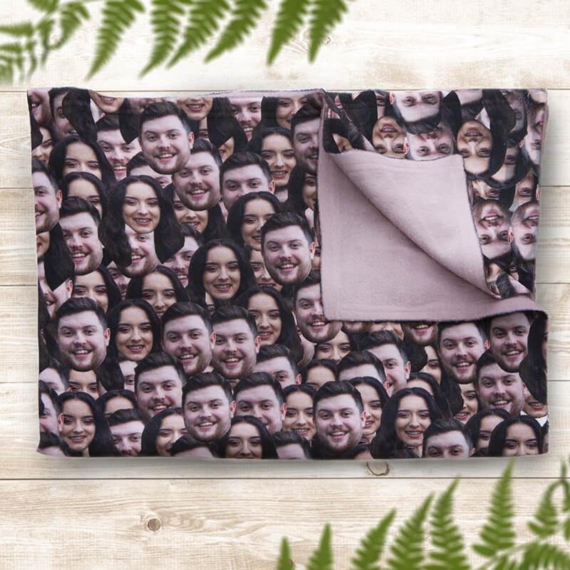 Personalised Multi Face Blanket