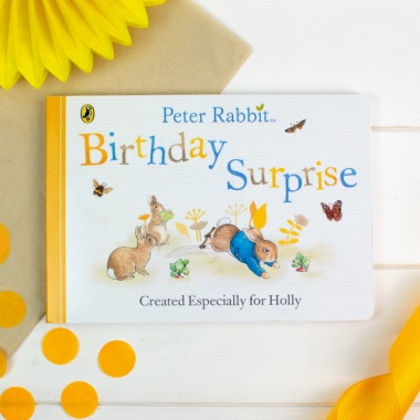 Personalised Peter Rabbit 'Birthday Surprise' Board Book