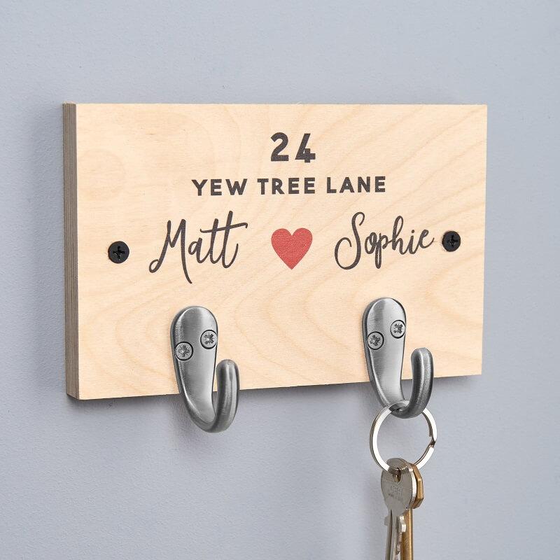 Personalised Couples Key Hooks