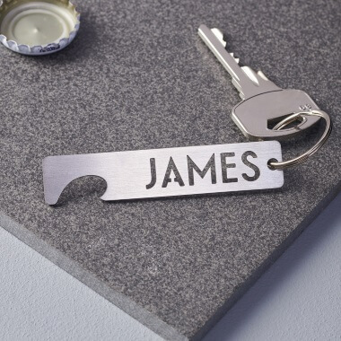 Personalised Keyring Bottle Opener