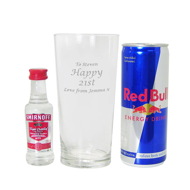 Personalised Vodka & Red Bull Gift Set