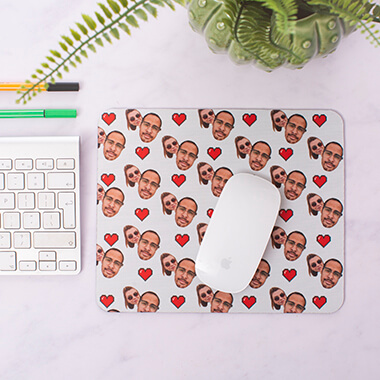 Personalised Couples Heart Mouse Mat