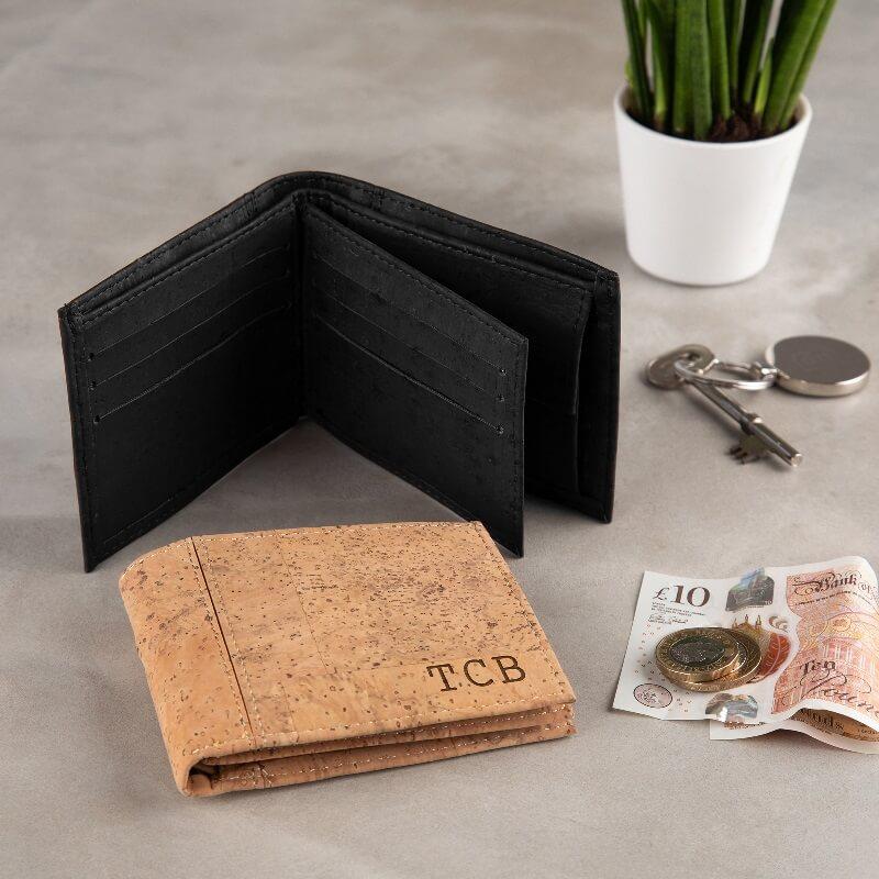 Personalised Initials Vegan Cork Wallet