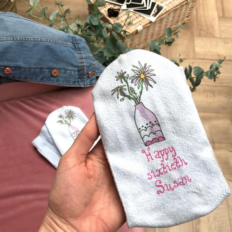 Personalised Birth Flower Socks