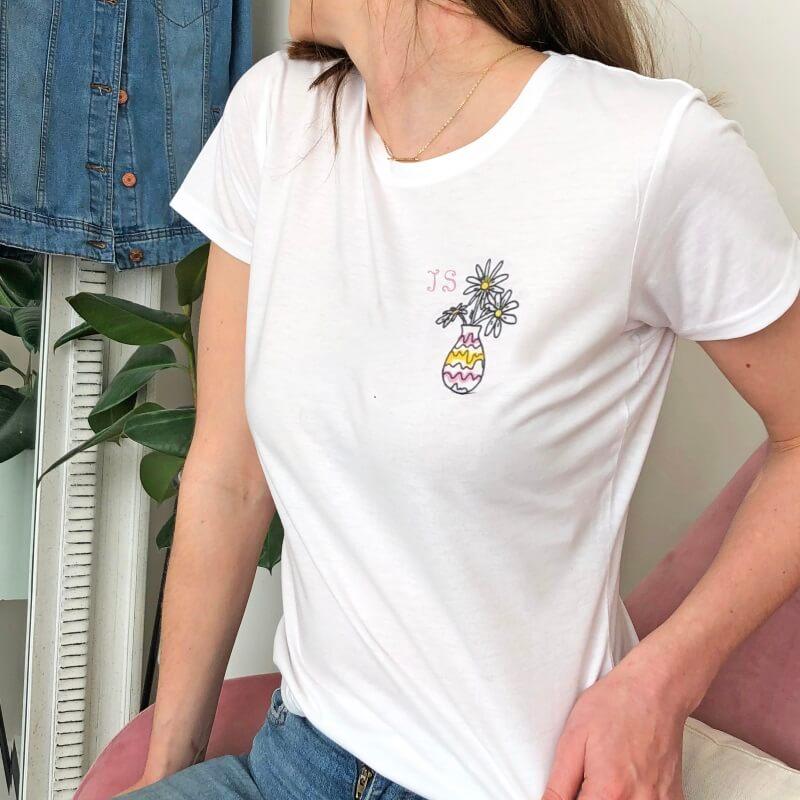 Personalised Monogrammed Birth Flower T-Shirt
