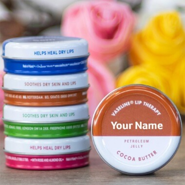 Personalised Vaseline Cocoa Butter Tin