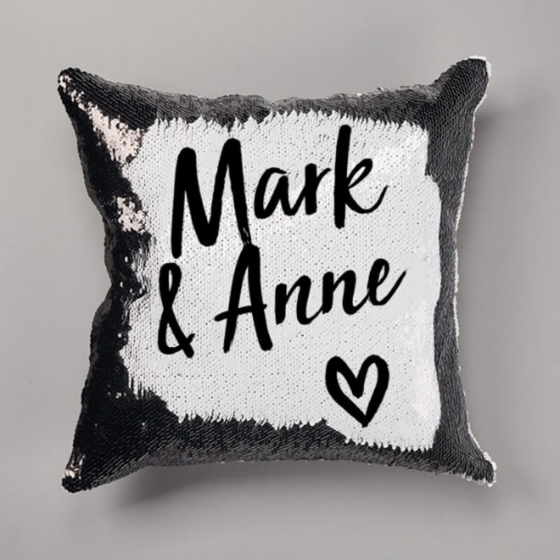 Personalised Couples Sequin Reveal Cushion