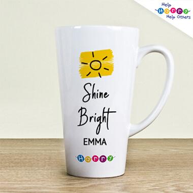 Help Harry Help Others Personalised Shine Bright Latte Mug