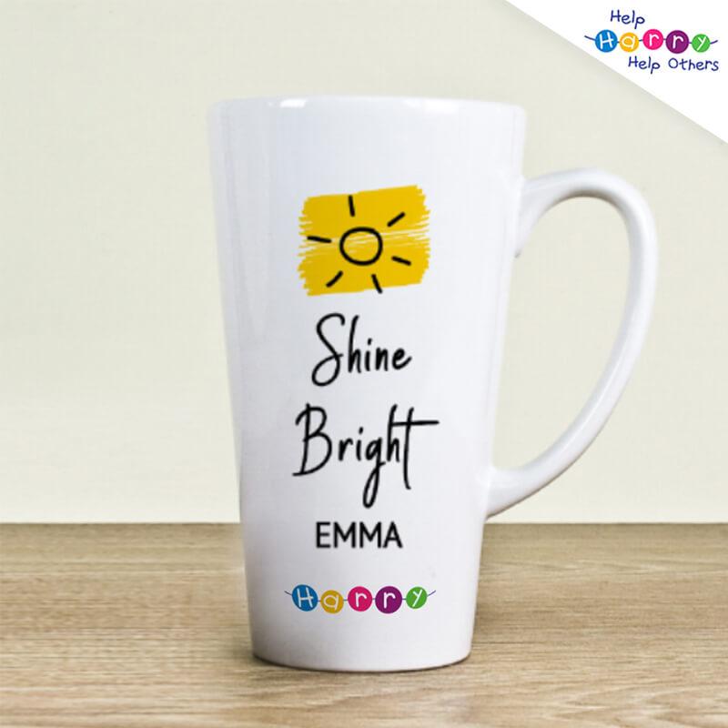 Help Harry Help Others Personalised Shine Bright Latte Mug