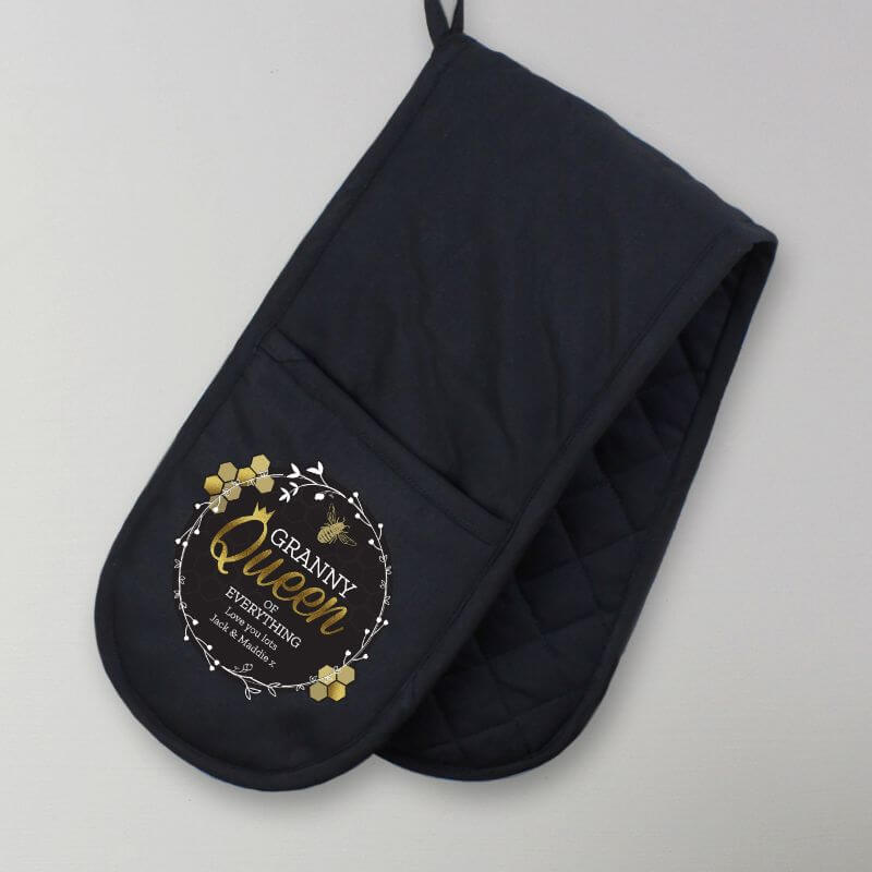 Personalised Queen Bee Oven Gloves