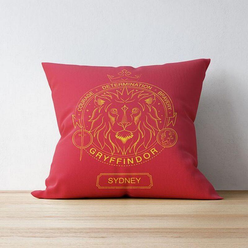 Personalised Gryffindor House Emblem Cushion