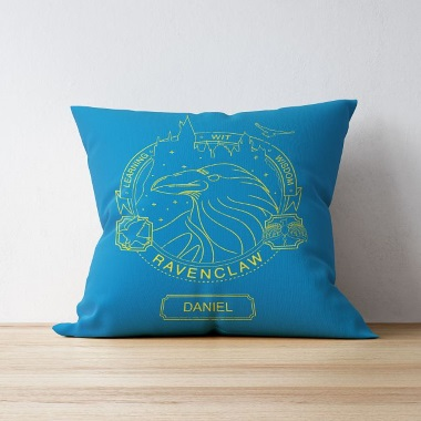 Personalised Ravenclaw House Emblem Cushion
