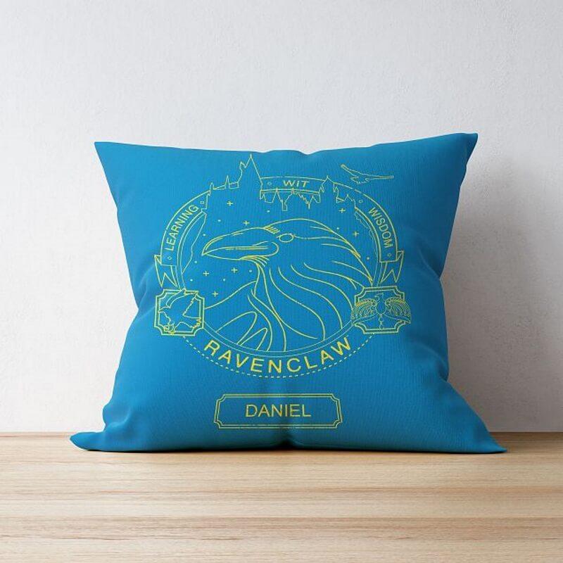 Personalised Ravenclaw House Emblem Cushion