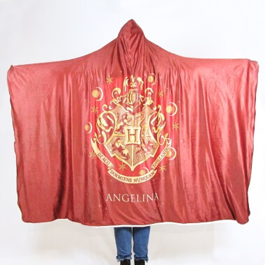 Personalised Harry Potter Adults Hooded Blanket