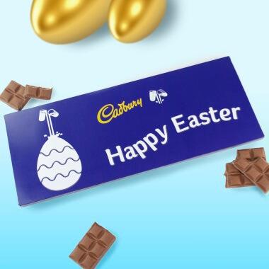 Personalised Easter Cadbury Dairy Milk Bar - 850g