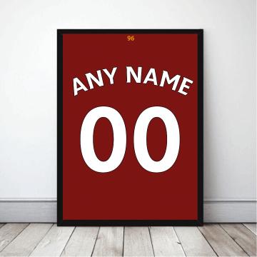 Personalised Football Shirt Print