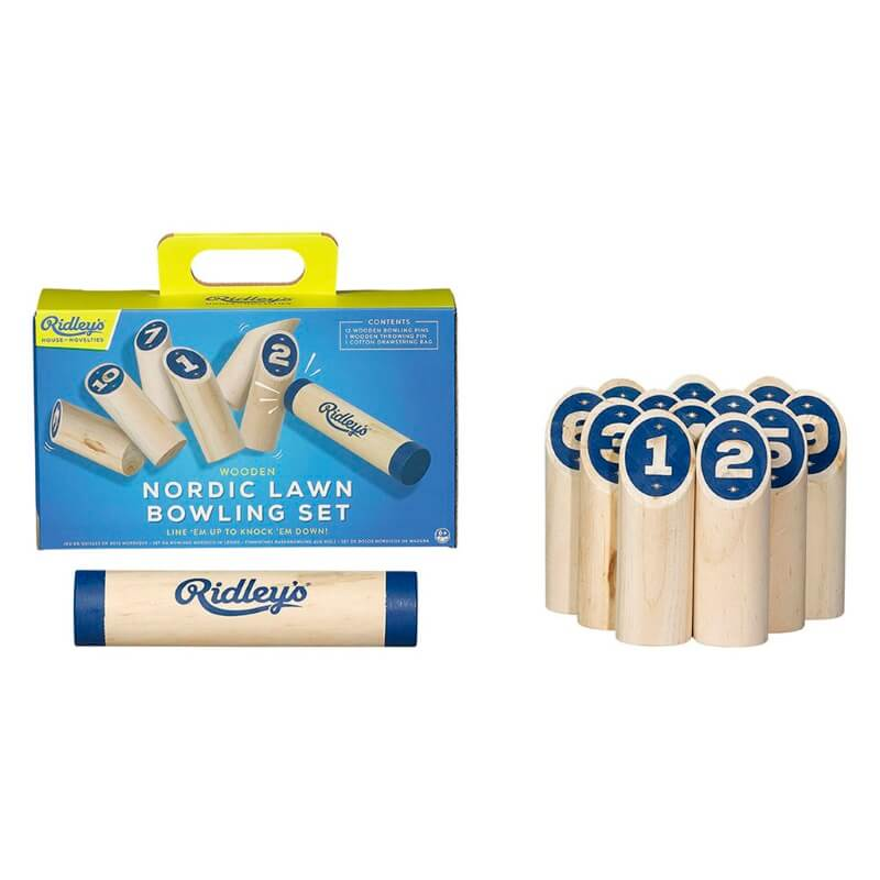 Ridley's Wooden Nordic Lawn Bowling Set