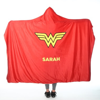 Personalised Wonder Woman Adults Hooded Blanket