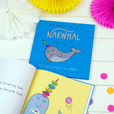 Personalised I'd Rather Be a Narwhal Book