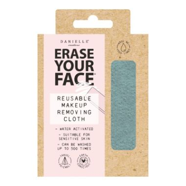 Erase Your Face - Pastel Blue Reusable Makeup Removing Cloth - Single