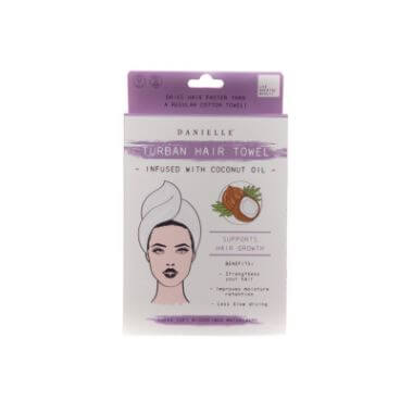 Turban Hair Towel - Infused With Coconut Oil