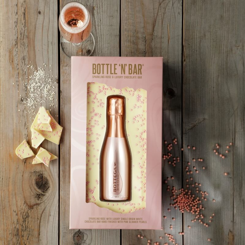 Bottle 'N' Bar Rosé Gold and White Chocolate