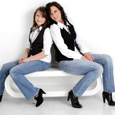 2 for 1 Mother and Daughter Makeover Photo Shoot - UK Wide