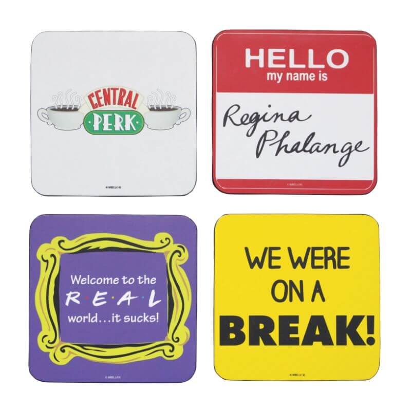 Friends Quotes Coasters -  Set of 4