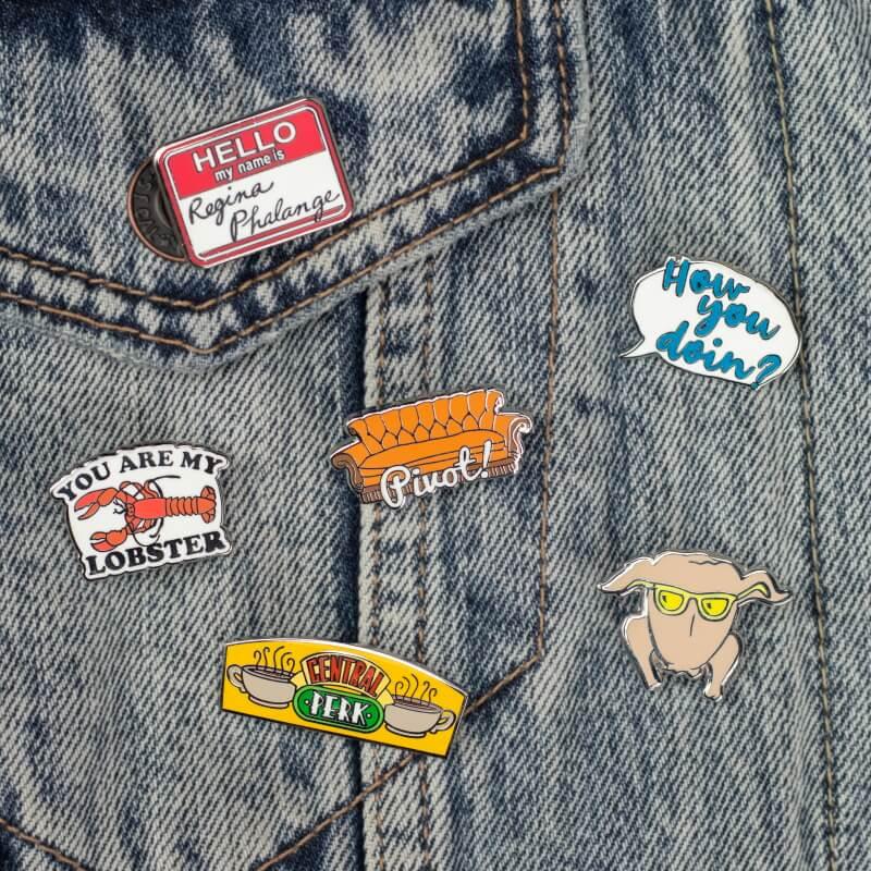 Friends Enamel Pin Badges