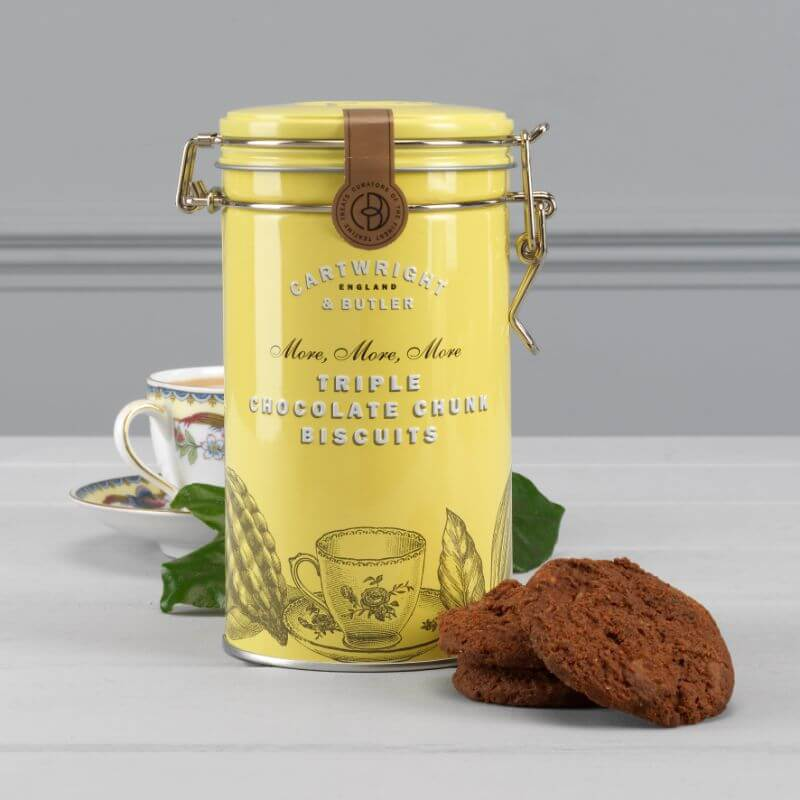 Cartwright And Butler Triple Choc Chunk Biscuits In Tin