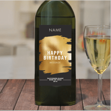 Personalised Birthday Letterbox White Wine