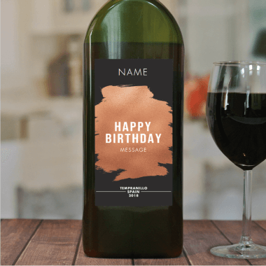Personalised Birthday Letterbox Red Wine