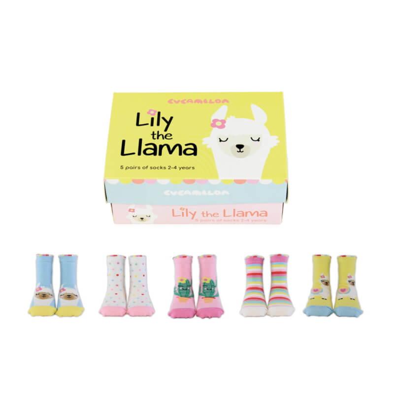 Lily the Llama Baby Girls Socks