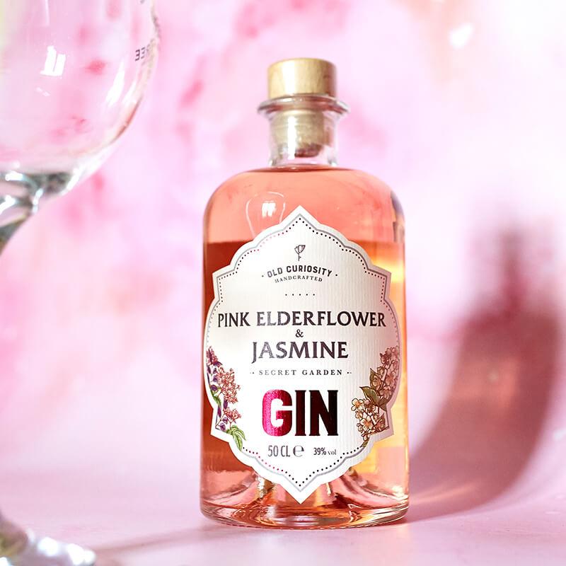 The Old Curiosity Secret Garden Gin - Pink Elderflower And Jasmine - 50cl