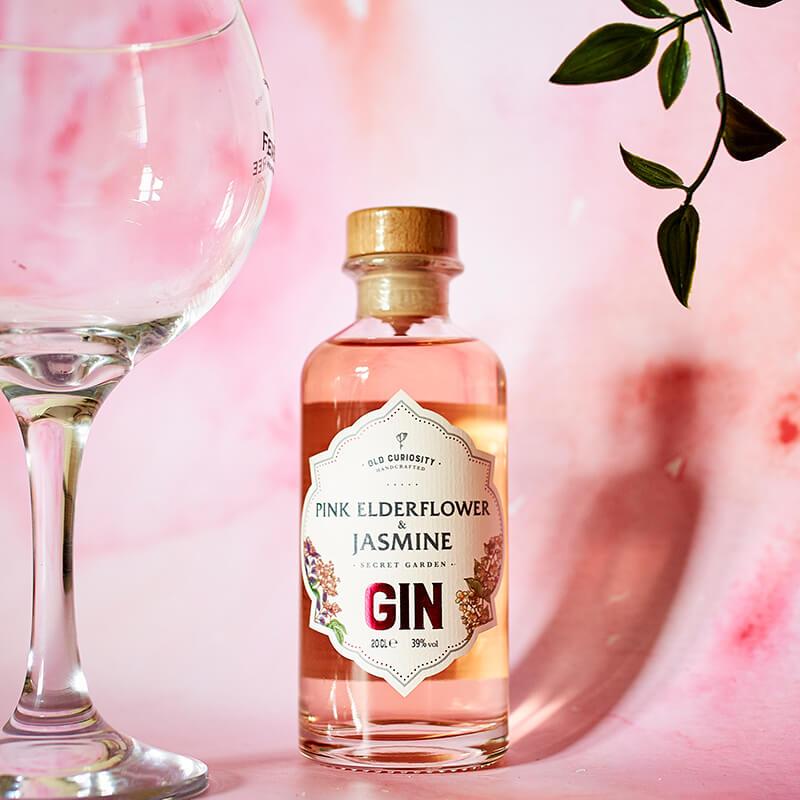 The Old Curiosity Secret Garden Gin - Pink Elderflower And Jasmine 20cl