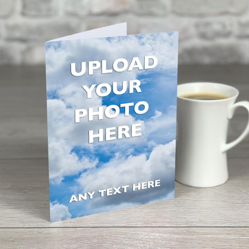 Personalised A5 Photo Card With Text