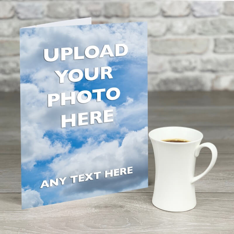 Personalised A4 Photo Card With Text