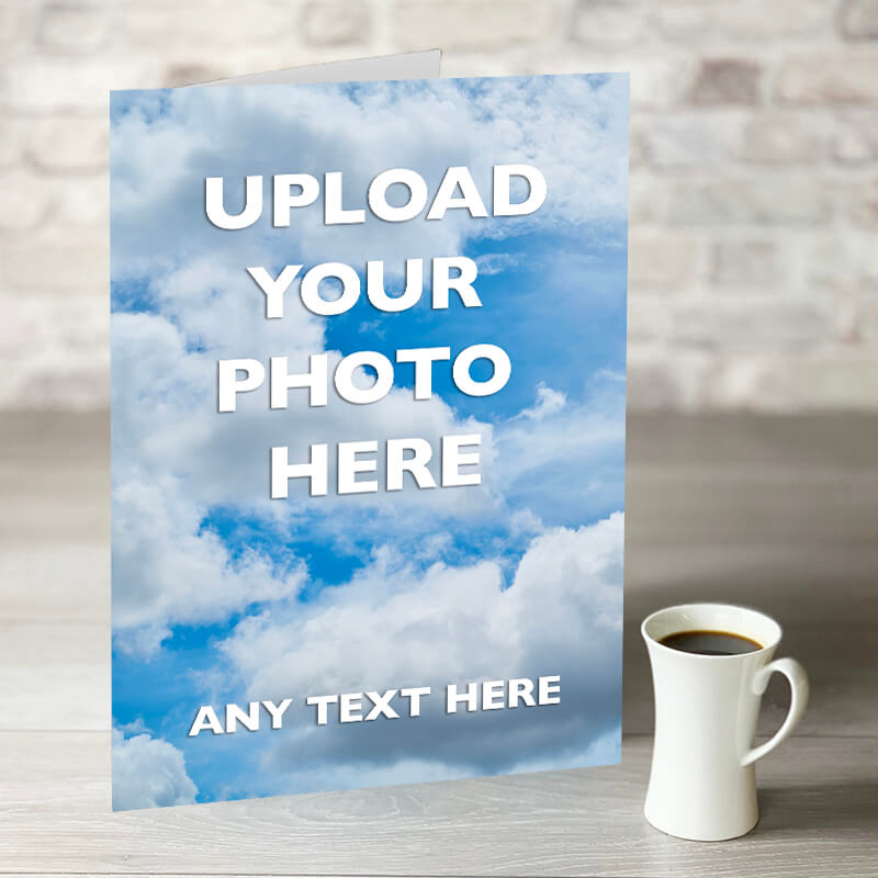 Personalise XL Photo Card With Text