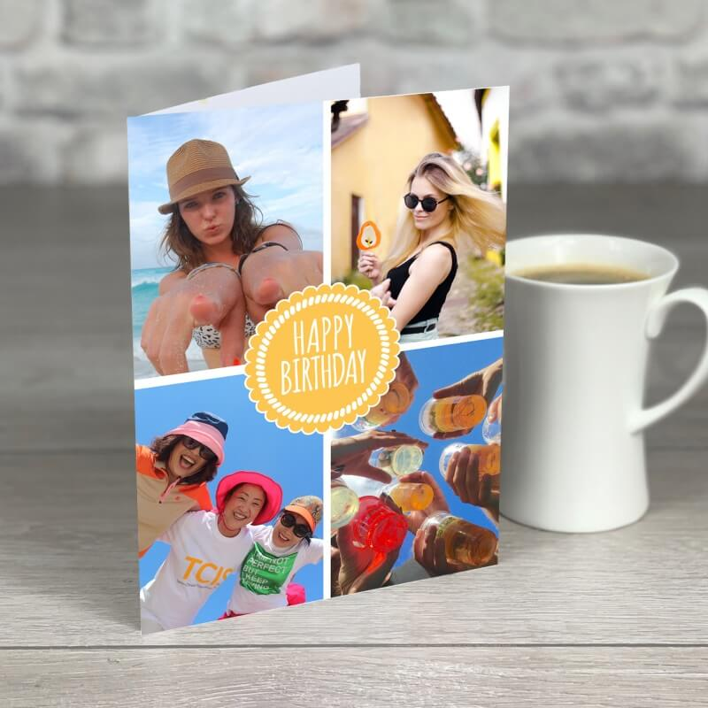 Personalised A5 Happy Birthday Photo Card