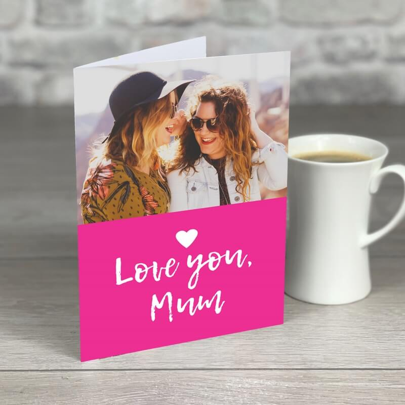 Personalised A5 Love You Mum Photo Card