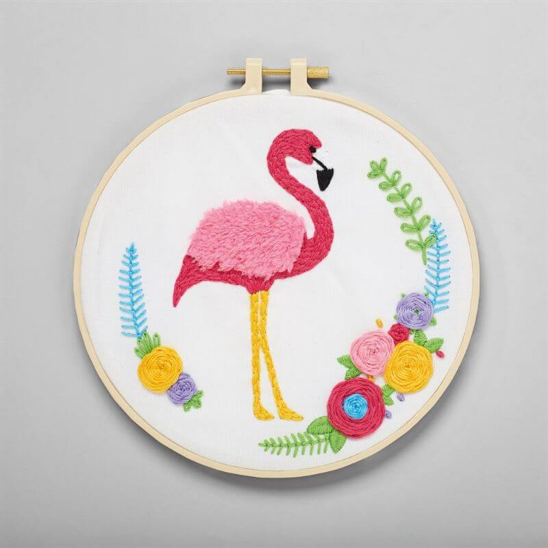 Simply Make Embroidery Kit - Flamingo